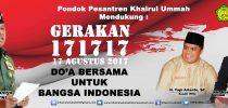 Gerakan 171717 Do'a bersama untuk Bangsa Indonesia 17 Agustus 2017